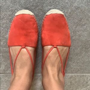 Eileen Fisher Shoes - Eileen Fisher Orange Suede Espadrilles
